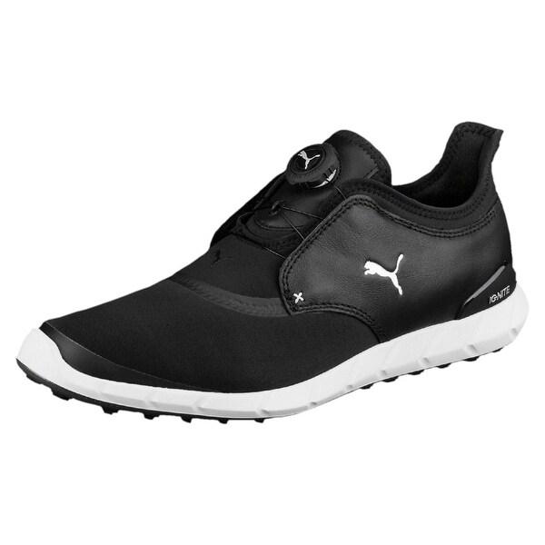 Puma Men's Ignite Spikeless Sport Disc Black/White Golf Shoes 189928-01