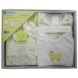 Bambini 5 Piece Gift Box (Yellow, Newborn)