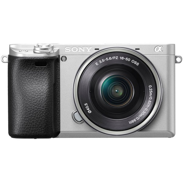 Sony Alpha a6300 Mirrorless Digital Camera with 16-50mm f/3.5-5.6 Lens (Silver)