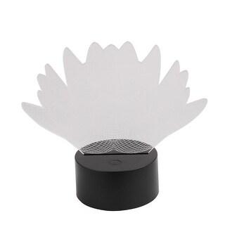 DC 5V Lotus Shape 3D Acrylic LED Night Light 7 Color Change Desk Table Lamp