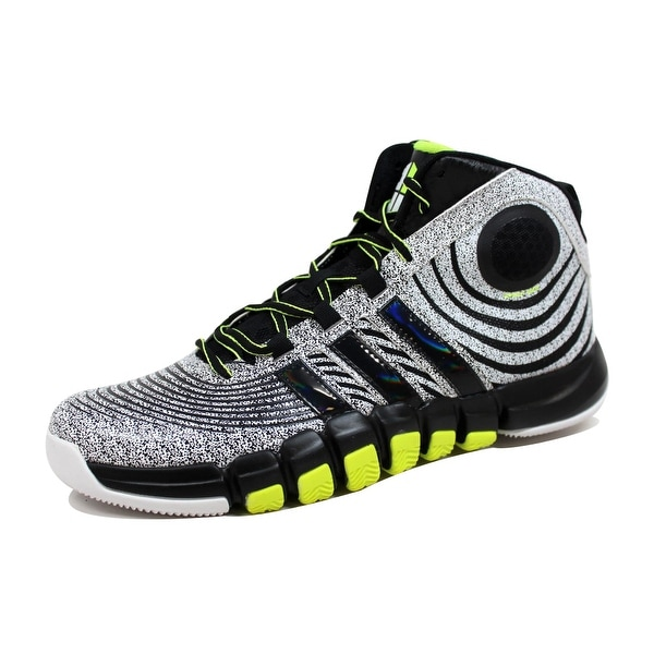 Adidas Men's Dwight Howard IV 4 White/Black-ElectroLime G67356