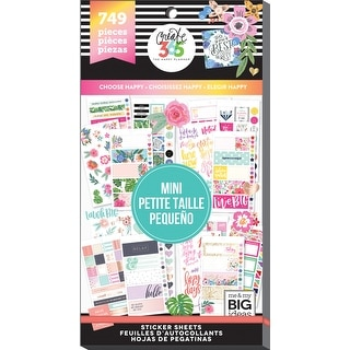 Create 365 Happy Planner Sticker Value Pack-Mini Choose Happy