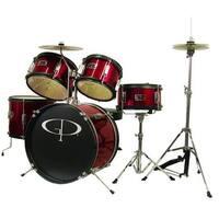 GP Percussion GP55RD 5 Piece Junior Drum Kit - Red