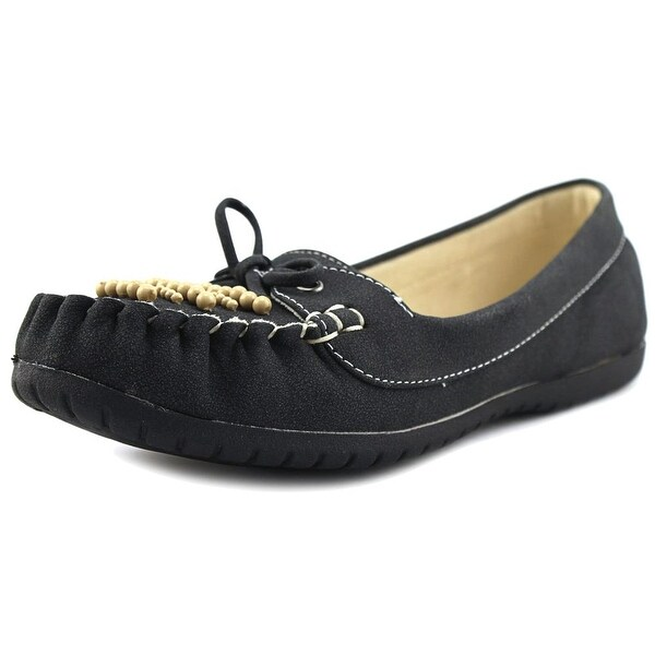 Baretraps Pansy Youth Round Toe Suede Black Loafer
