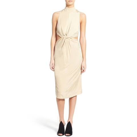 Kendall Kylie Knot Front Midi Dress, Puff, Small