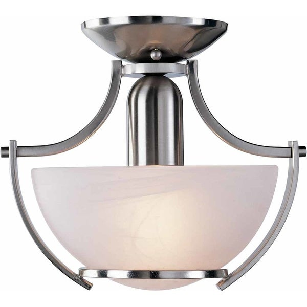 Volume Lighting V4821 Durango 1-Light Semi-Flush Ceiling Fixture - Brushed nickel