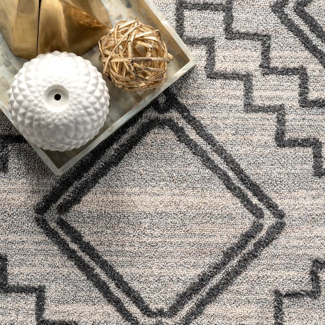 nuLOOM Karina Machine Washable Wool Striped Area Rug