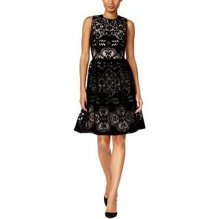 Tommy Hilfiger Womens Party Dress Velvet Lace
