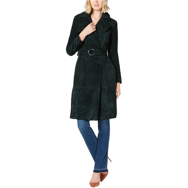 I-N-C Womens Solid Trench Coat. Opens flyout.