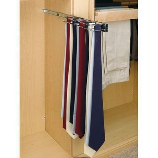 Rev-A-Shelf TRC-12 TRC Series 12 Inch Side Mount Sliding Tie Rack for Up to 23 Ties