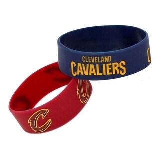 NBA Cleveland Cavaliers Set of 2 Rubber Wristband Bracelet
