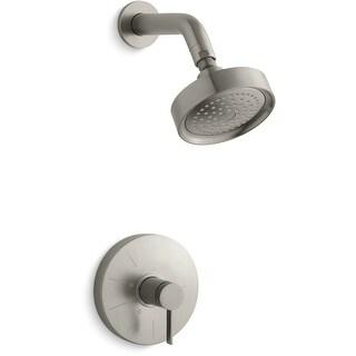 Kohler K-TS949-4  Single Handle Rite-Temp Pressure Balanced Shower Only Trim with Rain Shower Head from the Stillness Series