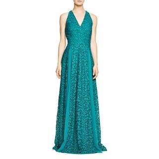 Aqua Womens Evening Dress Lace Deep-V