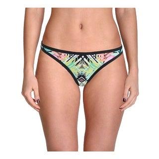 Bikini Lab Womens Juniors It Takes Hue Tropical Print Swim Bottom Separates