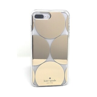 Kate Spade New York Oversized Dots Hybrid Hardshell Case For iPhone 7 Plus & iPhone 8 Plus, Clear/Gold