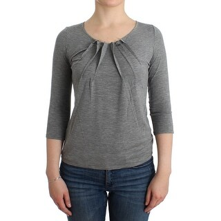 Cavalli Cavalli Gray 3/4 sleeves jumper top
