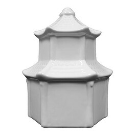 Plaid Ceramic Ready to Paint Pagoda Birdhouse