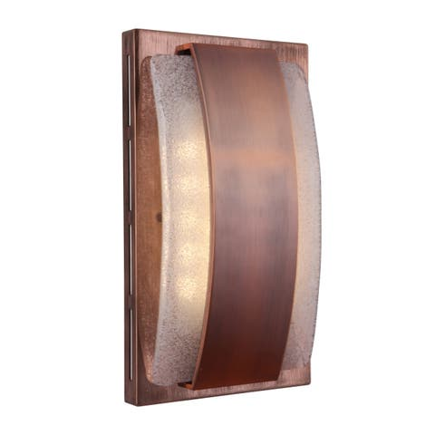 """Craftmade ICH1710 Illuminated 7"""" x 5"""" Recessed Door Chime with Seeded Artisan Glass -"""