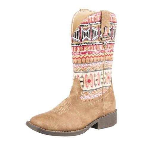Roper Western Boots Girls Azteka Tan