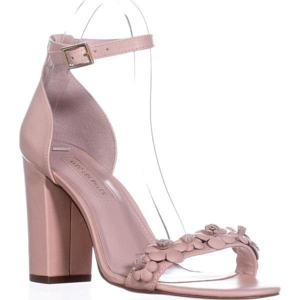 Avec Les Filles Michele Embellished Ankle Strap Sandals, Pale Peach - 7.5 us