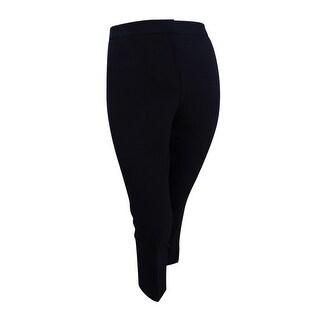 Kasper Women's Petite Straight-Leg Ankle Pants (16P, Black) - Black - 16p