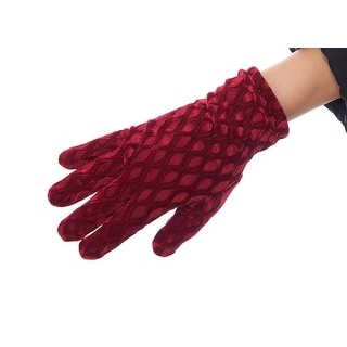 Textured Treasure Velvet Gloves with Thinsulate Lining