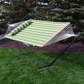 Sunnydaze 2-Person Quilted Hammock with Spreader Bars and Detachable Pillow - Hammock Stand Included - Thumbnail 64