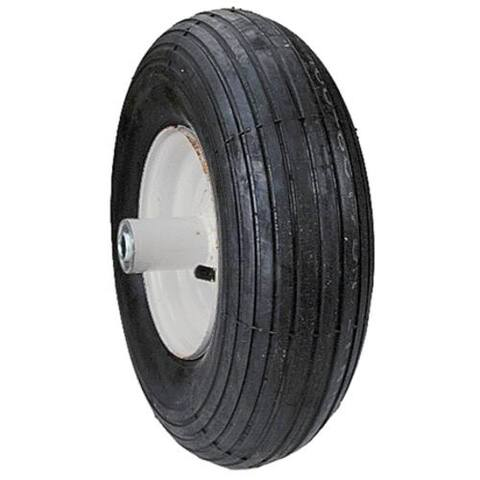 "Max Power 335255 Rib Tread Wheelbarrow Wheel, 4"" X 6"""