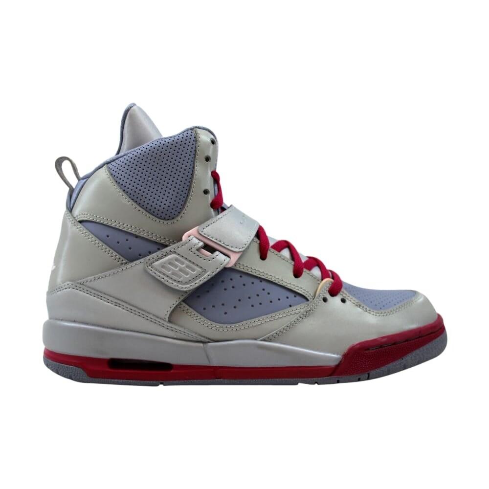 Nike Grade School Air Jordan Flight 45 High GS Metallic PlatinumArctic Pink Pebble Grey 524864 009 Size 7
