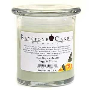 1 Pc 8 oz Sage & Citrus Soy Jar Candles 3.5 in. diameter x 4 in. tall