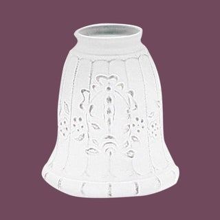 Lamp Shade Etched Glass 4 3/8H x 2 1/4 '' fitter