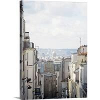 Premium Thick-Wrap Canvas entitled Paris seen from Montmartre.