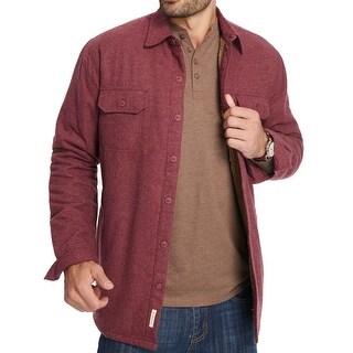 Weatherproof Red Mens Size Large L Fleece Lined Shirt Jacket