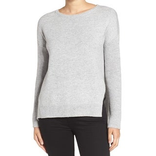 Trouve Gray Womens Size Small S Hi Low Long Sleeve Crewneck Sweater