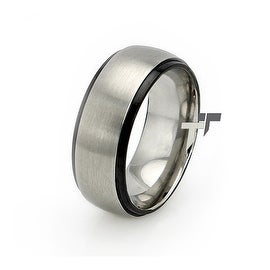 Two-Tone Stainless Steel Dome Ring