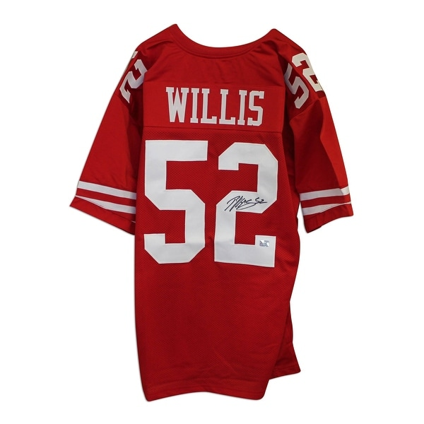 0b71c618 Patrick Willis San Francisco 49ers Autographed Red Throwback Jersey