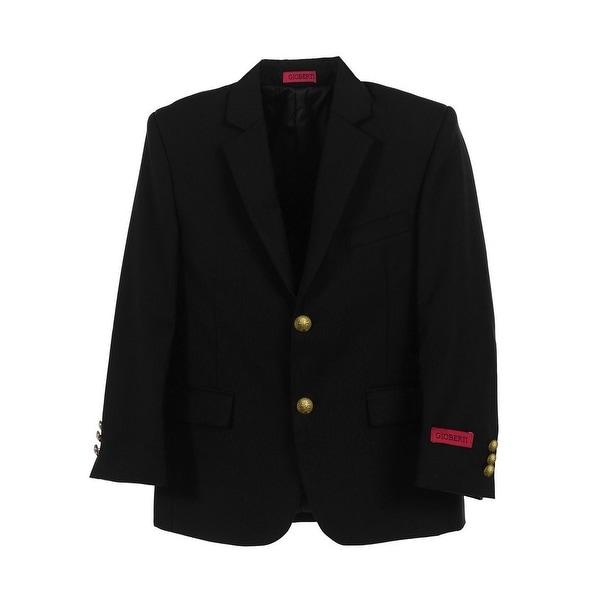 Little Boys Black 2 Gold Button Formal Blazer Jacket