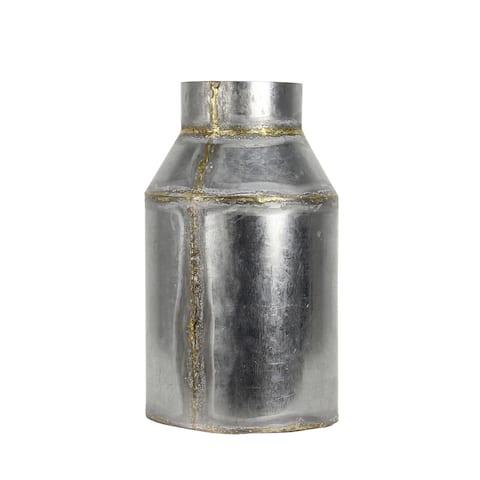 """Brewster FADX9071D Habitat Lars 11-1/2"""" Long Medium Metal Vintage Milk Jug Vase"""