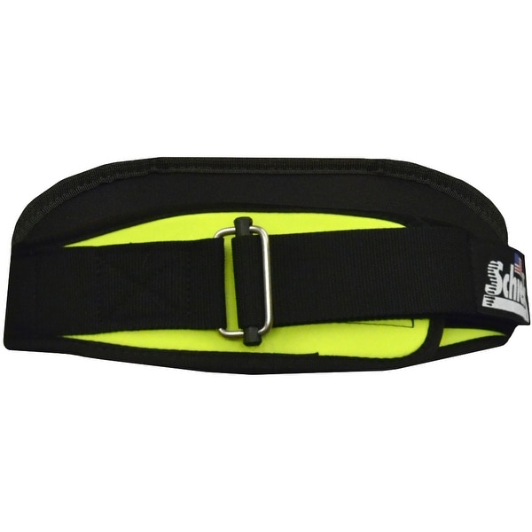 "Schiek Sports Model 2004 Nylon 4 3/4"" Weight Lifting Belt - Neon Yellow"