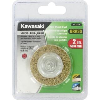 "Kawasaki® 2"" Coarse Crimped Brass Wire Wheel Brush - 841519"