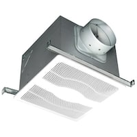 Air King D4D 120 CFM 0.3 Sone Ceiling Mounted DC Motor Dual Speed Energy Star Rated Exhaust Fan - White - n/a