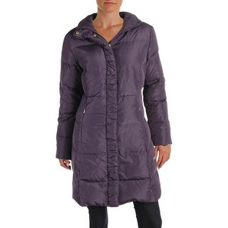 Ellen Tracy Womens Petites Parka Coat Winter Down