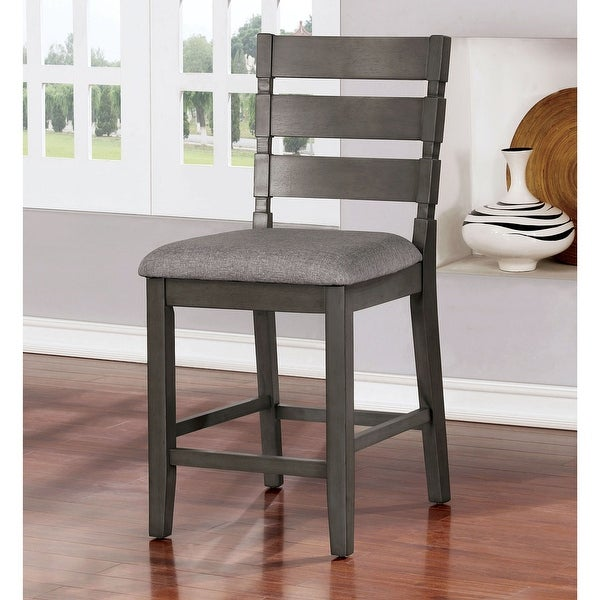 The Gray Barn Park House Transitional Grey Counter Chairs (Set of 2). Opens flyout.