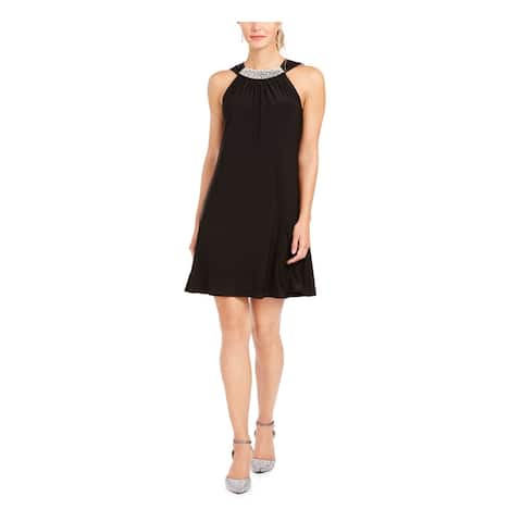 MSK Womens Black Solid Above The Knee Shift Cocktail Dress Size M
