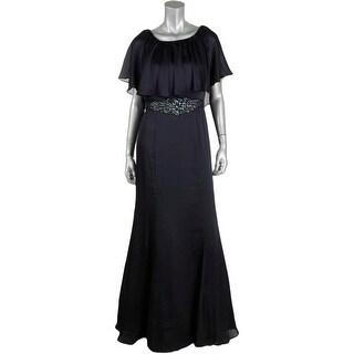 Adrianna Papell Womens Embellished High Waist Evening Dress