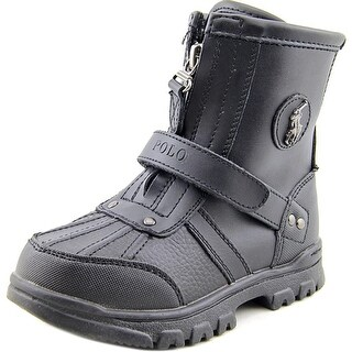 Polo Ralph Lauren Ranger Hi Toddler  Round Toe Leather Black Boot