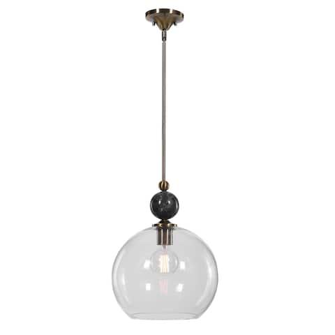 Uttermost Mendota 1-Light Glass Pendant