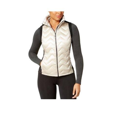 Calvin Klein Performance Women's Chevron Quilted Vest, Champange, S