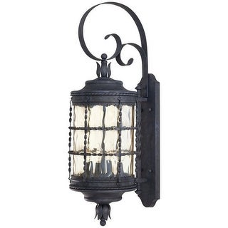 "The Great Outdoors GO 8882 4 Light 34.25"" Height Outdoor Wall Sconce from the Mallorca Collection"