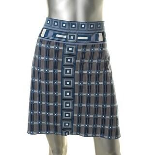 Studio M Womens Juliane A-Line Skirt Printed Pull On